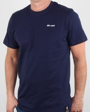 Gio-goi Embroidered Logo T Shirt Navy