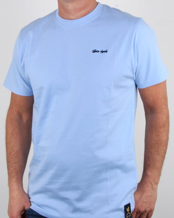 Gio-goi Embroidered Logo T Shirt Sky Blue