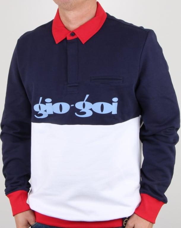 Gio-goi Rugby Collar Sweatshirt Navy
