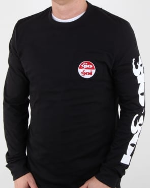 Gio-goi Sleeve Print Long Sleeve T Shirt Black
