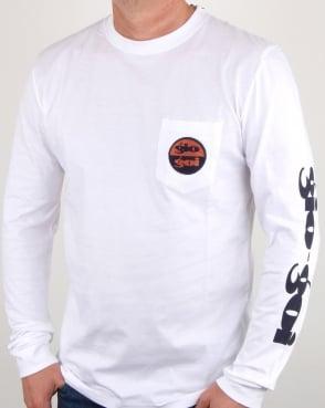 Gio-goi Sleeve Print Long Sleeve T Shirt White
