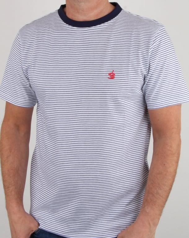 Gio-goi Stripe T Shirt White/navy
