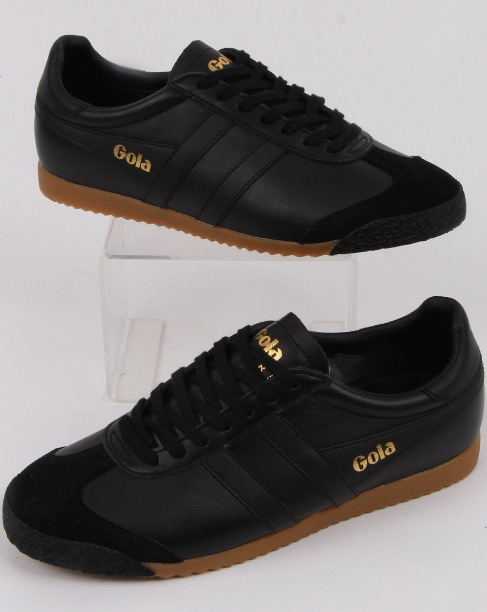 9a1015d05d9c Gola Gola Harrier 50 Leather Trainer Black black