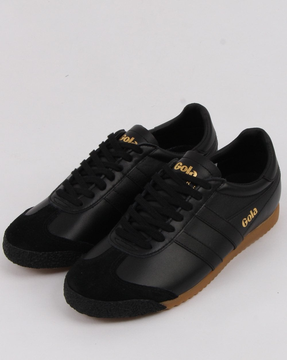Gola Harrier 50 Leather Trainers in