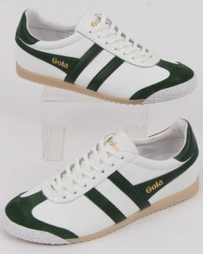 Gola Harrier 60s-70s Leather Trainer White/green