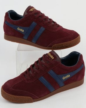 Gola Harrier Suede Trainer Burgundy/Navy