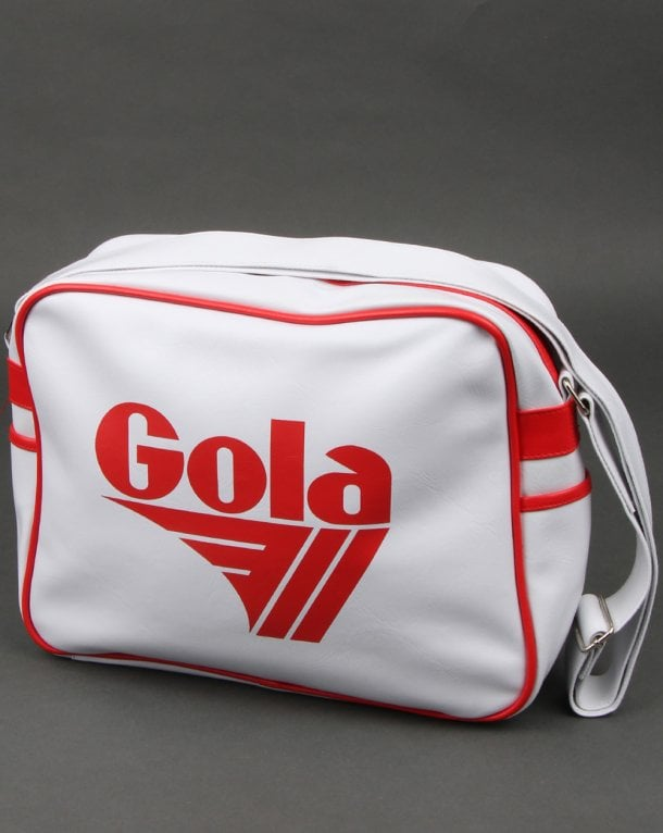 Gola Redford Shoulder Bag White/red