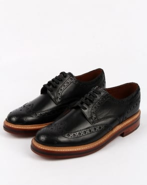 Grenson Archie Gibson Brogues Black