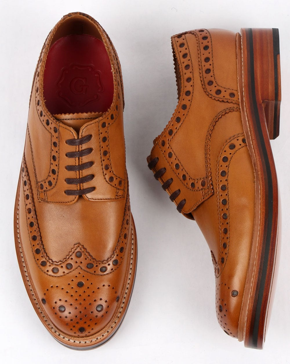 nice cheap new products look good shoes sale Grenson Archie Gibson Brogues Tan