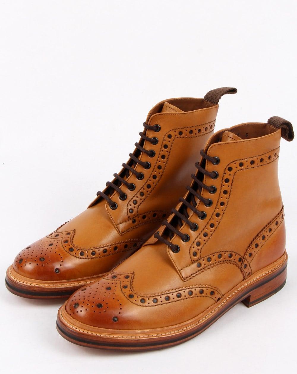 377b76ae4b2 Grenson Fred Brogue Boots Tan