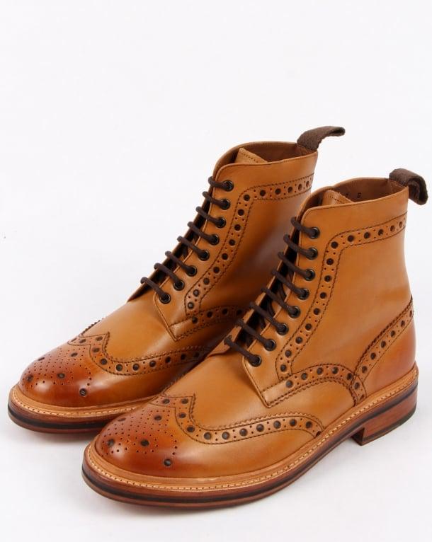 03a98e38118 Grenson Grenson Fred Brogue Boots Tan