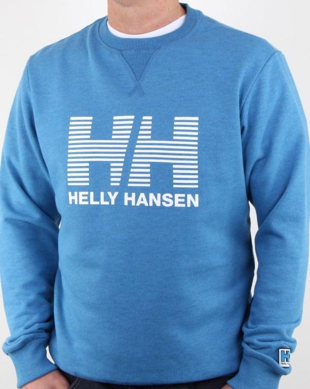 helly hansen hh crew sweat blue water mens cotton crew neck warm. Black Bedroom Furniture Sets. Home Design Ideas