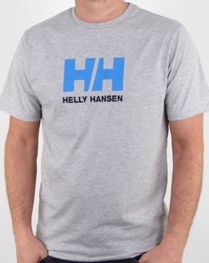 Helly Hansen Hh Logo T Shirt Grey Melange
