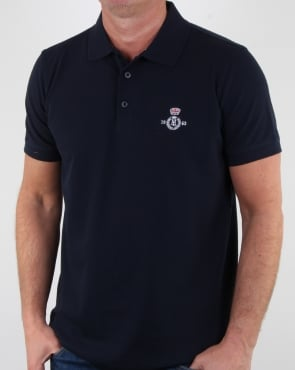 Henri Lloyd Benton Branded Polo Shirt Navy