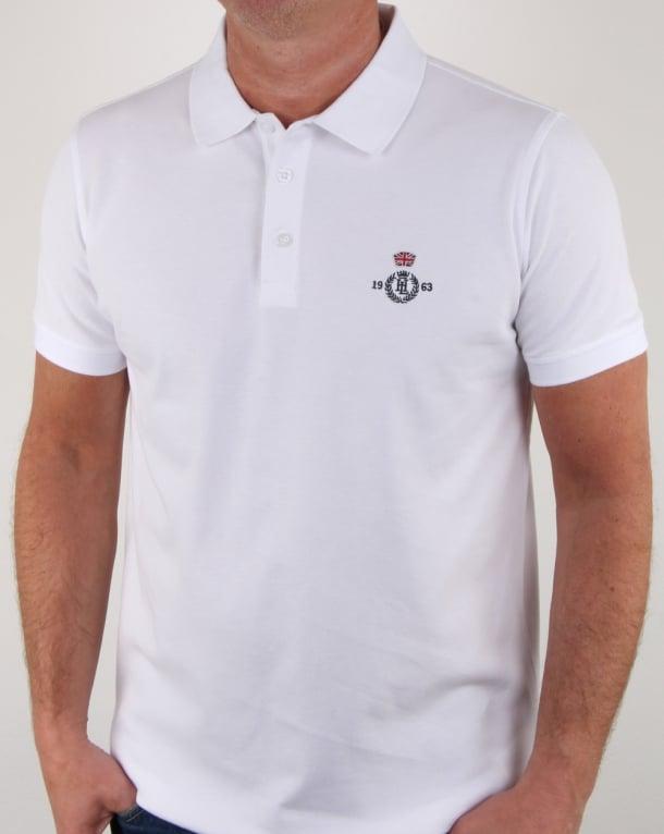 Henri Lloyd Benton Branded Polo Shirt White