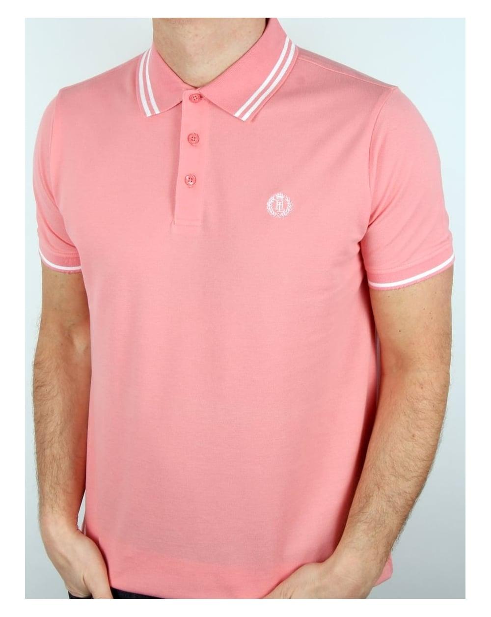 48af8e11 Henri Lloyd Byron Polo Shirt Salmon Pink, Men's, Pique, Cotton
