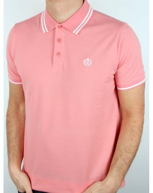 Henri Lloyd Byron Polo Shirt Salmon Pink, Men's, Pique, Cotton