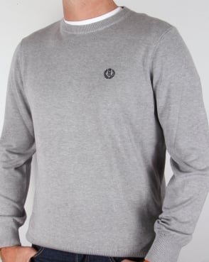 Henri Lloyd Crew Neck Knit Grey Marl