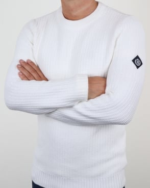 Henri Lloyd Felsted Crew Neck Knit White