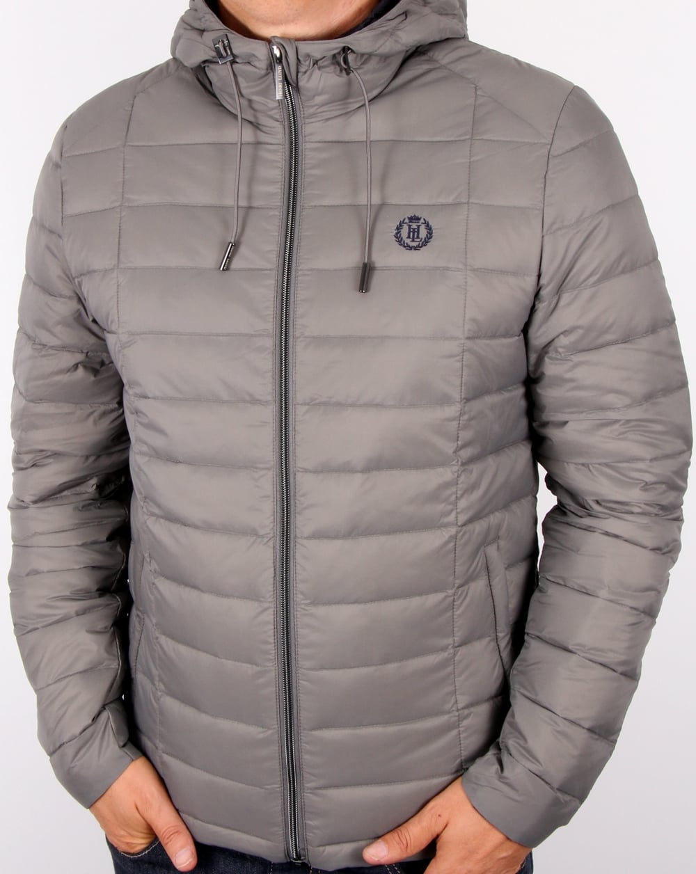 Henri Lloyd Jacket Grey, Down Filled, Ganton Lightweight Bubble Coat