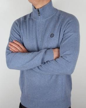 Henri Lloyd Half Zip Knit Frost Blue