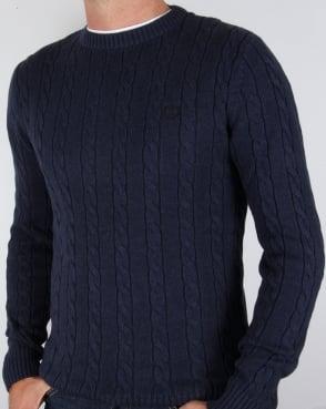 Henri Lloyd Kramer Cable Knit Jumper Indigo Marl