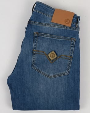 Henri Lloyd Manston Regular Fit Jeans Vintage Medium Wash