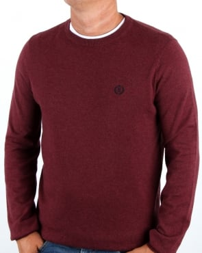 Henri Lloyd Morgan Crew Neck Knit Burgundy