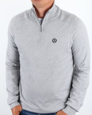 Henri Lloyd Morgan Half Zip Knit Graphite Marl