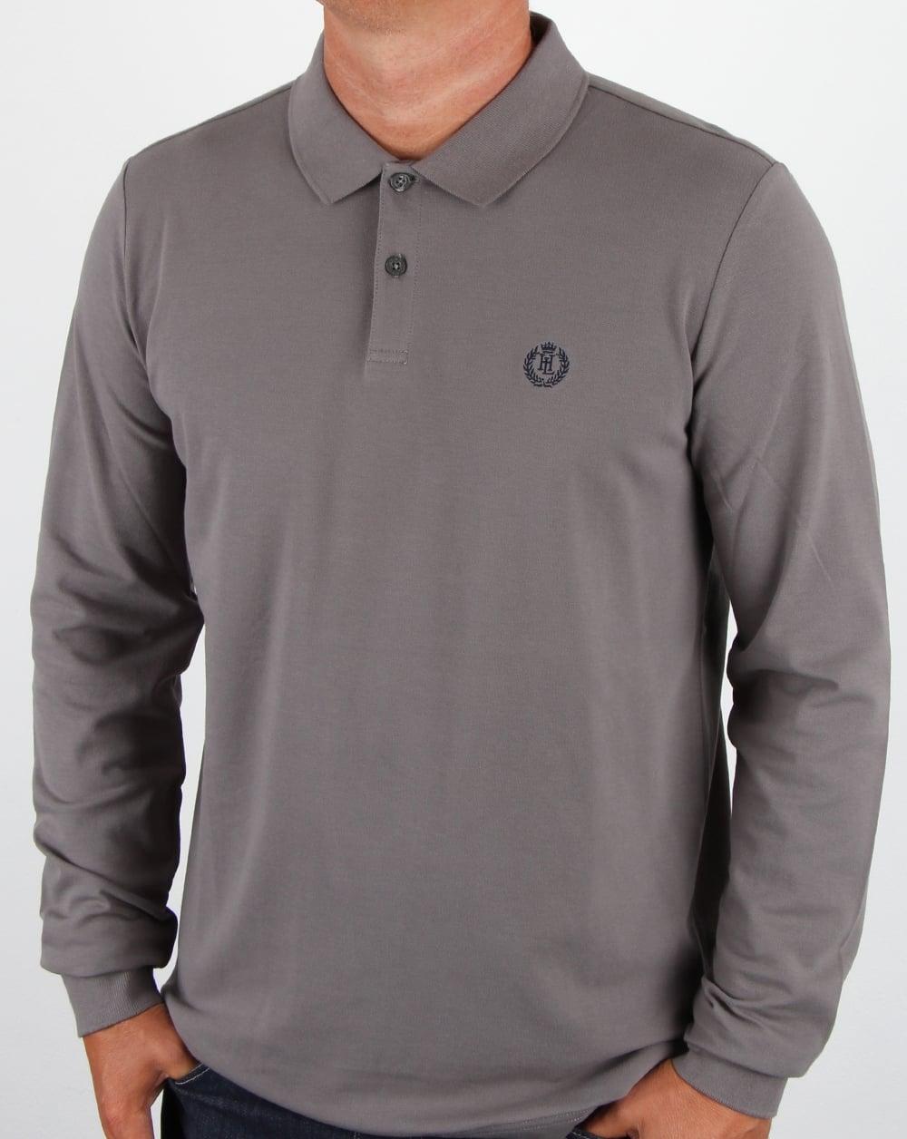 5649bb1a94f Henri Lloyd Henri Lloyd Musburry Ls Polo Shirt Flint Grey