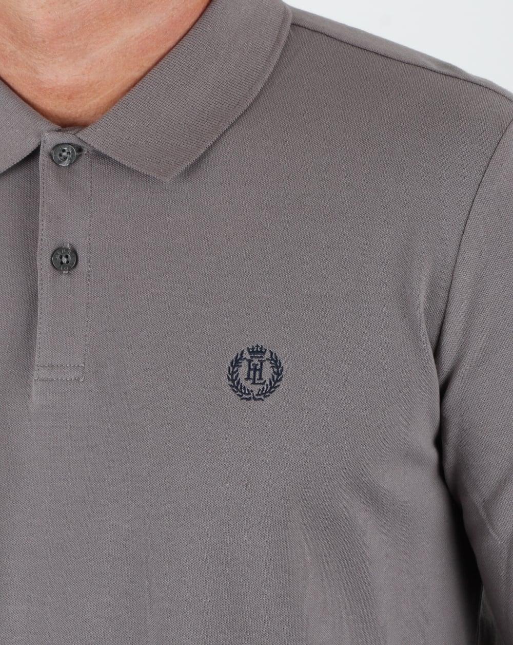 8e0f1532bc4 Henri Lloyd Musburry Ls Polo Shirt Flint Grey, Men's, Top