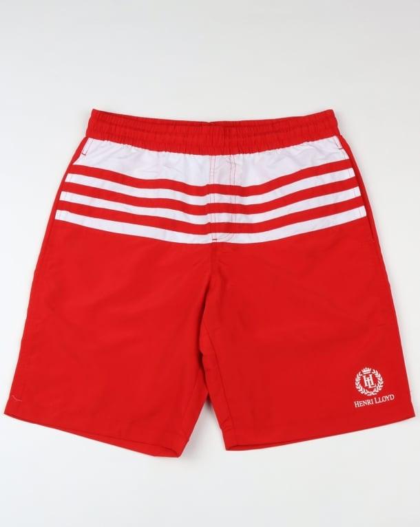 Henri Lloyd Nes Swim Shorts Cardinal Red