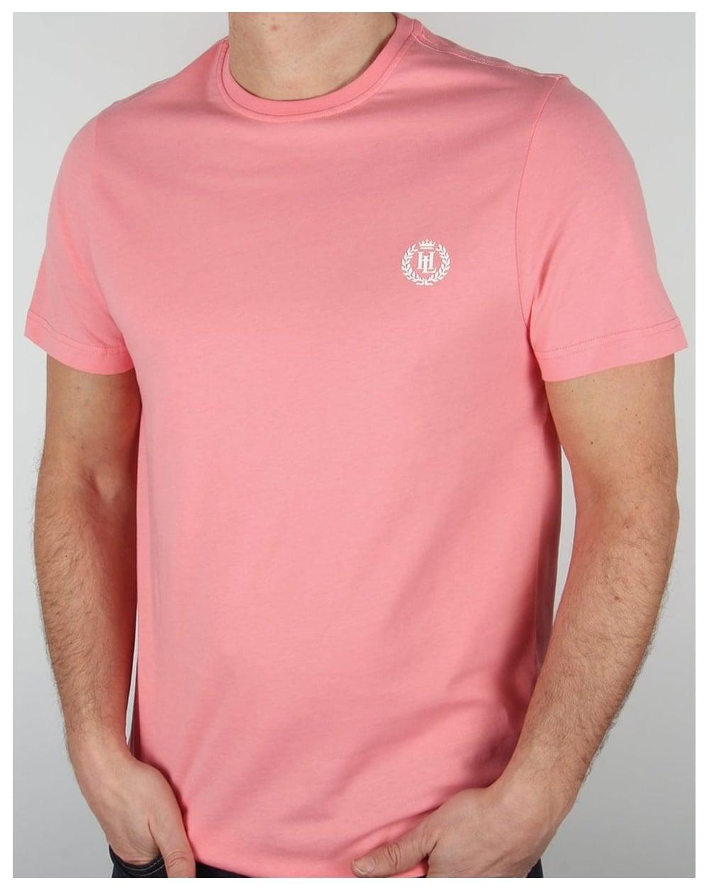 e757f537 Henri Lloyd Radar T Shirt Salmon Pink,tee,logo,mens,sale