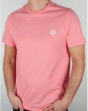 Henri Lloyd Radar T Shirt Salmon Pink