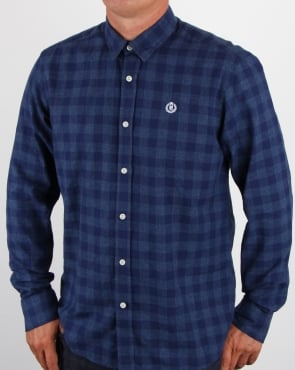 Henri Lloyd Ramore Check Shirt Eclipse Blues