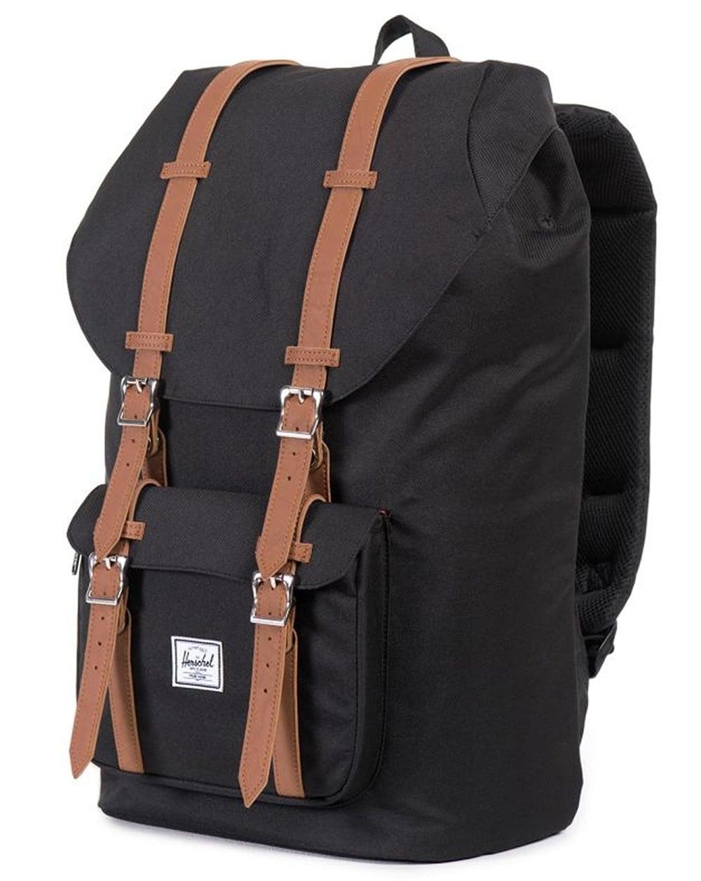 965191415b Herschel Herschel Little America Backpack Black Tan