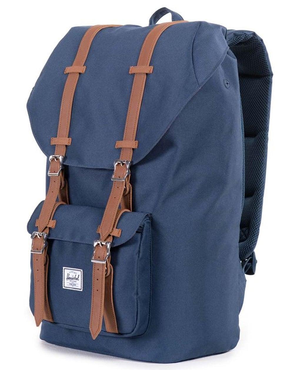 herschel little america backpack navy tan bag rucksack. Black Bedroom Furniture Sets. Home Design Ideas