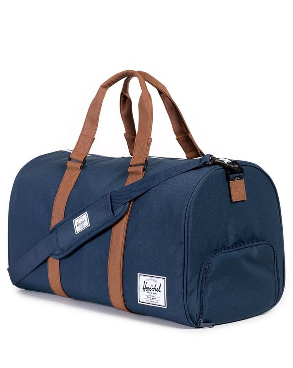 526a0f0abeb Herschel Novel Duffle Bag Navy Tan,holdall,rucksack,shoulder