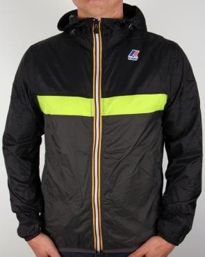 K-way Claude 3.0 Colour Block Jacket Black/Green/Grey