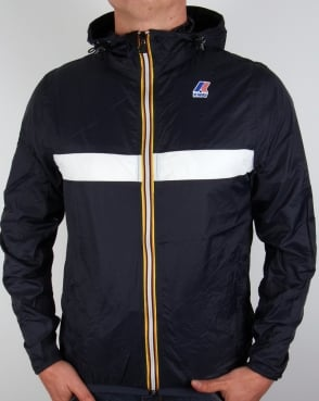 K-way Claude 3.0 Colour Block Jacket Dark Blue/White