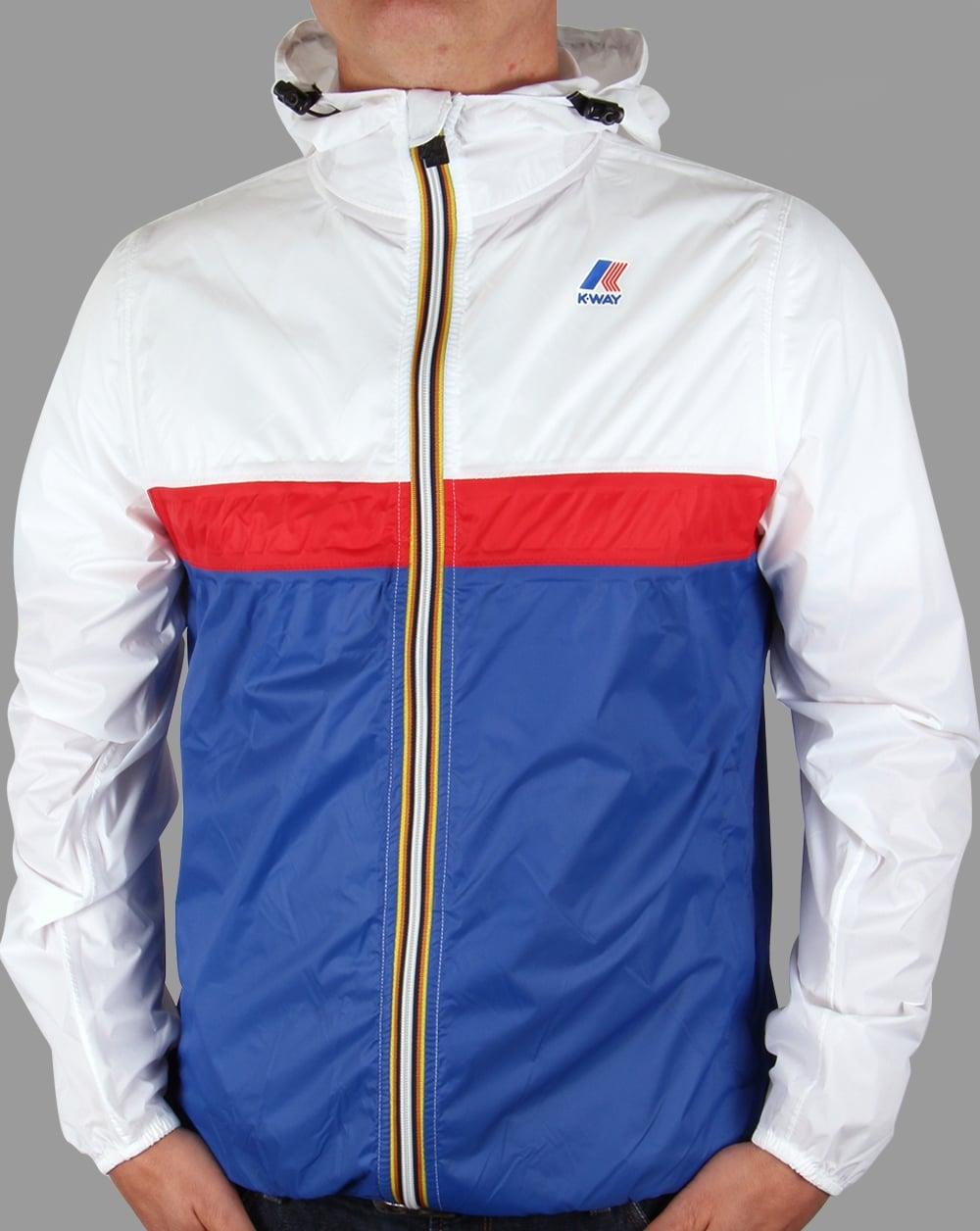 K Way Claude 3 0 Colour Block Jacket White Blue