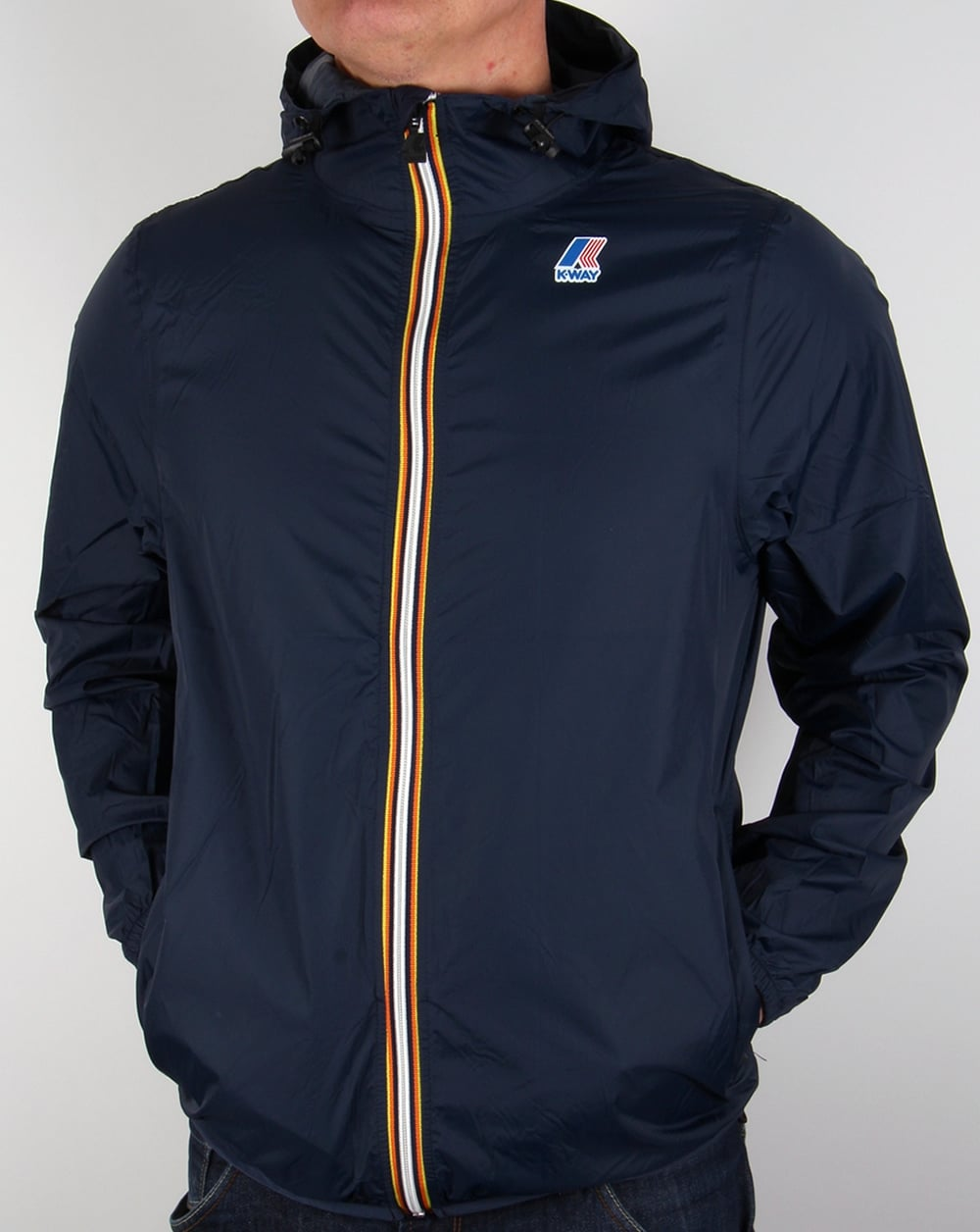 K-way Claude 3.0 Rainproof Jacket Navy, windbreaker,coat,pac a mac ...