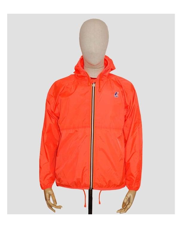 k way claude classic rainpoof jacket fluorescent orange. Black Bedroom Furniture Sets. Home Design Ideas