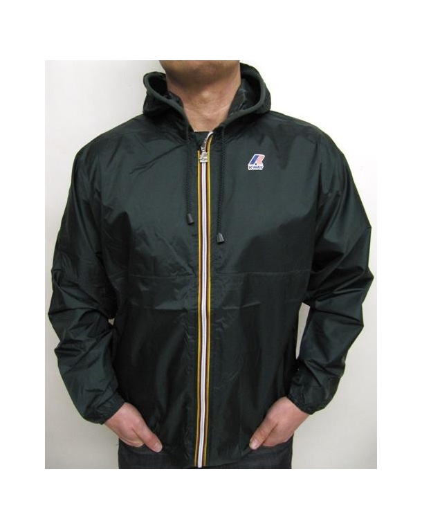 K-way Claude Classic Rainproof Jacket Forest Green