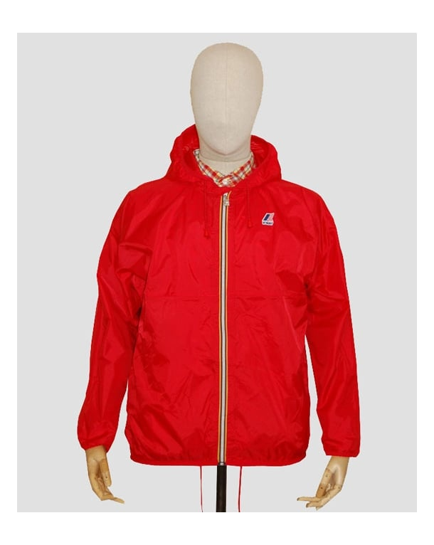 K-way Claude Classic Rainproof Jacket Red