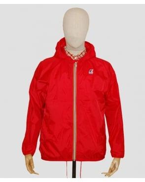 K-way Claude Classic Rainproof Jacket Red