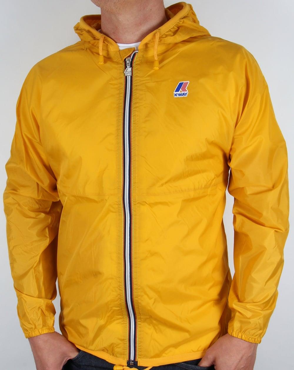 k way claude classic rainproof jacket yellow coat pac a mac mens. Black Bedroom Furniture Sets. Home Design Ideas