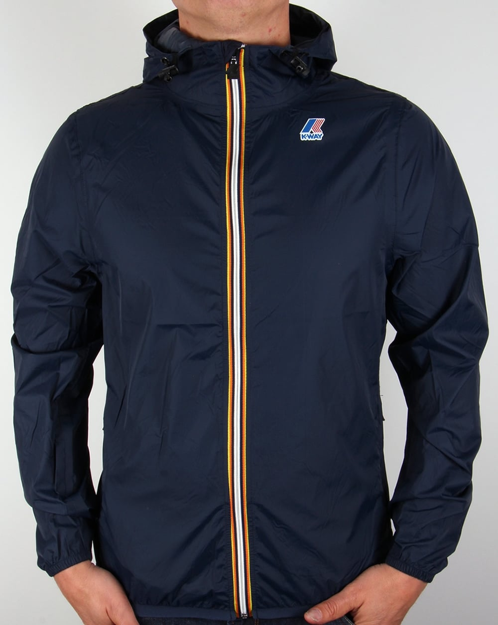 top-rated latest buying now new products for K-way Full Zip Claude Rainproof Jacket Navy