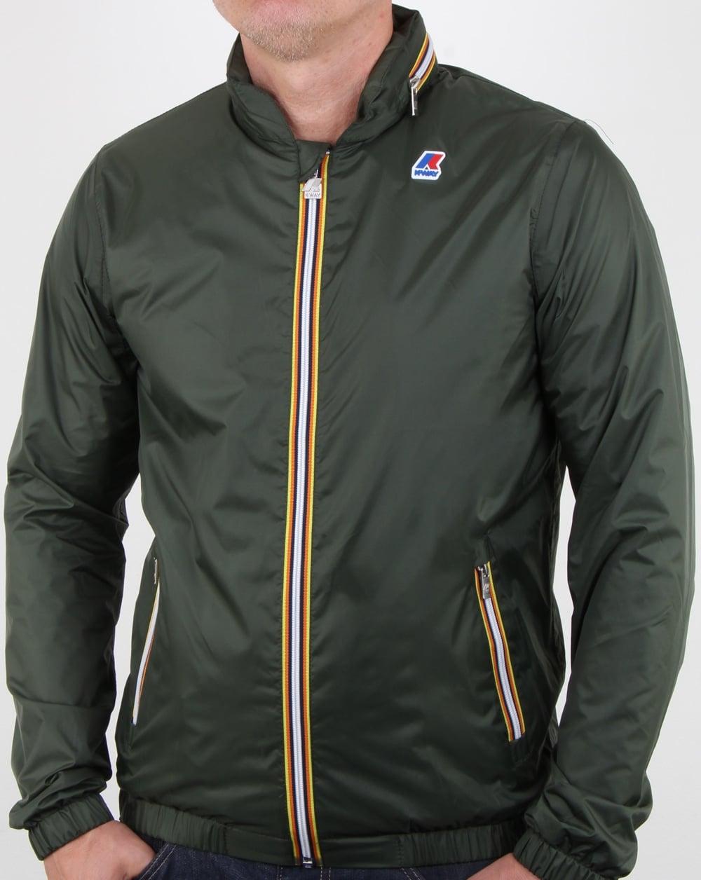 28b85cbf7 K-way Full Zip Phillippe Nylon Jacket Dark Green