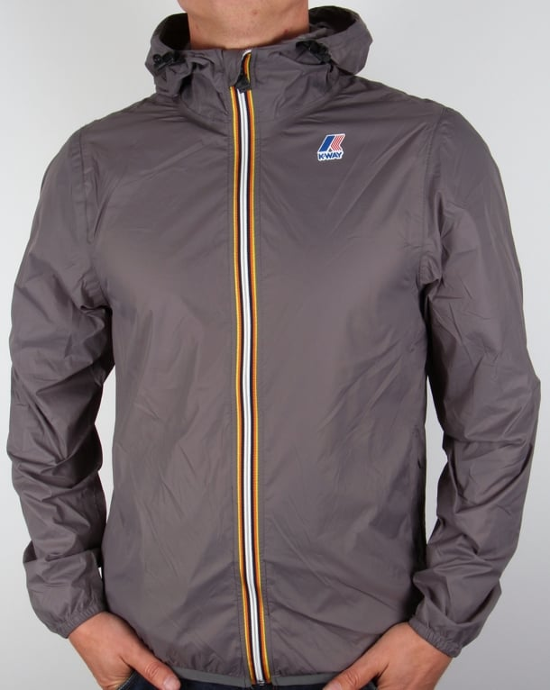 K-Way Le Vrai 3.0 Claude Rainproof Jacket Mid Grey